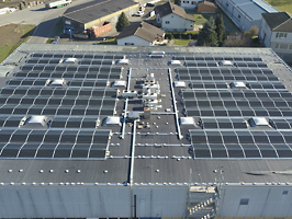 Referenzen: Photovoltaik-Anlage von Goldenberger Elektro AG